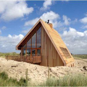 Houten strandhuis