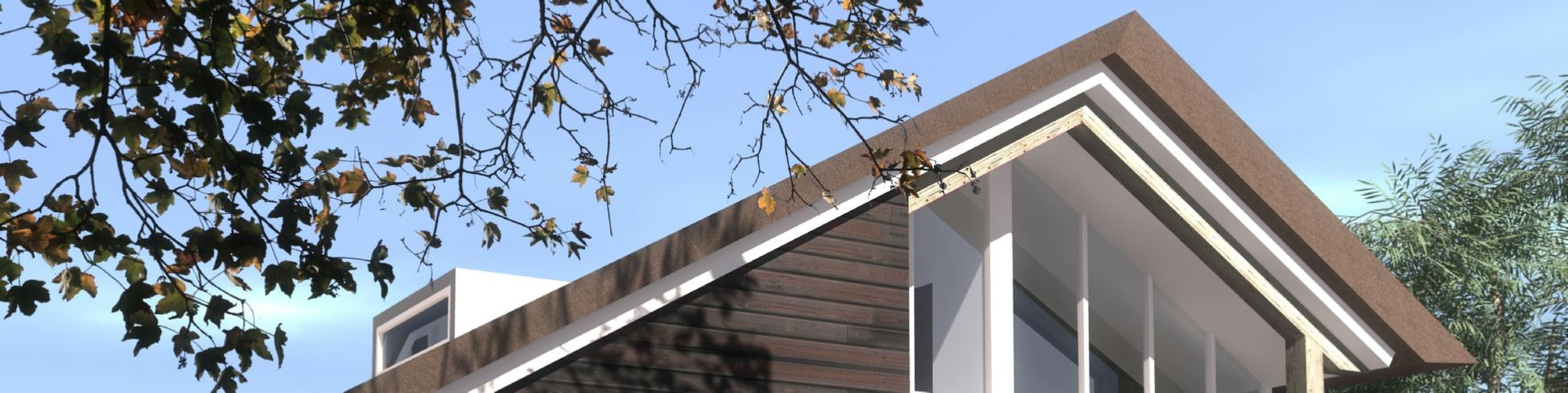 Recreatiewoning dak